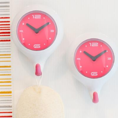 듀오[Duo] 흡착식 욕실 방수시계 오리지널핑크
