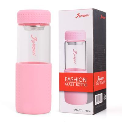 패션 유리 티보틀 380ml 핑크