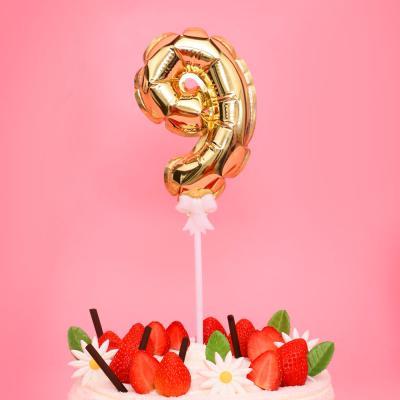 생일 케이크 풍선 데코픽 (골드) 9