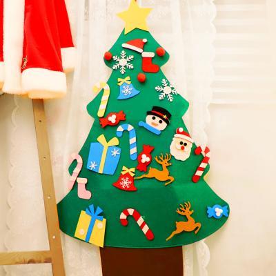 크리스마스 펠트 벽트리 만들기세트 (눈사람)