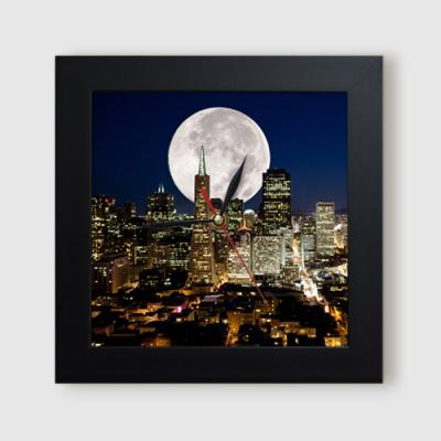 ct937-달이빛나는캘리포니아의야경_미니액자벽시계