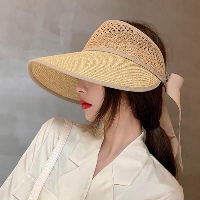 디아런 여름 햇빛차단 넓은 챙 왕골모자 바캉스 모자
