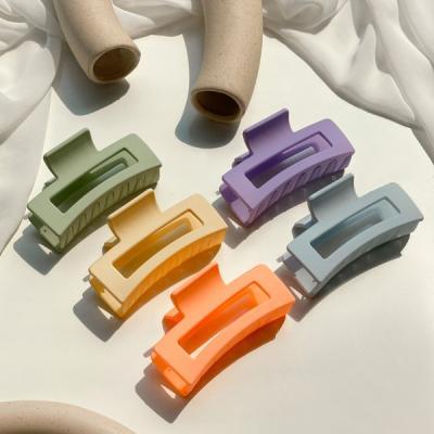 비비드 무광 직사각형 헤어 집게핀 5color