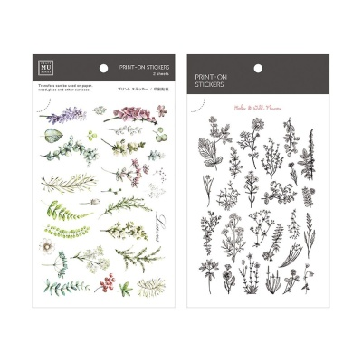 Miccudo 프린트-온 스티커 Ver.2 (18. Botanical)