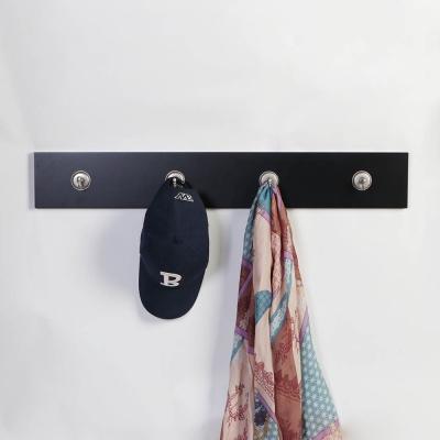 노드릭 4P 훅크 다용도 벽장식 옷걸이 800-블랙우드