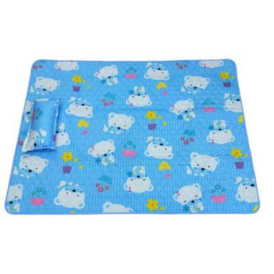 [무료배송][베이비캠프]아기 곰 중형 누빔 방수요+베개 기획세트