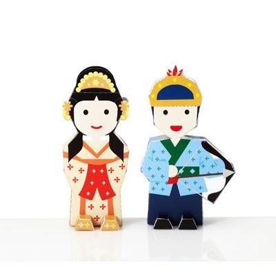 페이퍼토이_바보온달과 평강공주 set