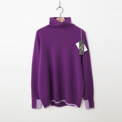 Laine Raccoon Fox N Wool Combo Turtleneck Sweater