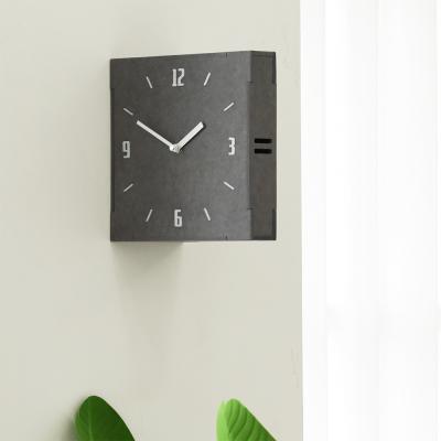 (ktk163)저소음 Gray 우드 양면벽시계