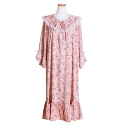 [쿠비카]레이스 모달코튼 원피스 소매훌 여성잠옷W494