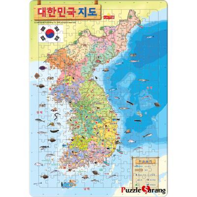 195조각 판퍼즐 - 대한민국 지도