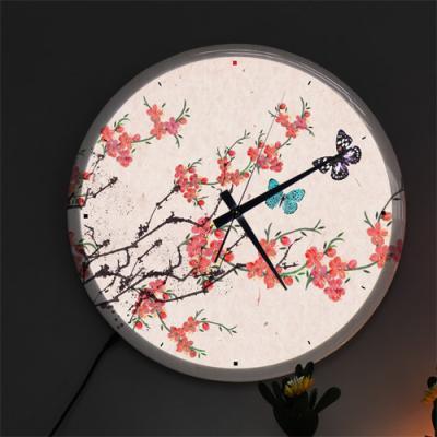 nf488-LED시계액자35R_아름다운민화벚꽃과나비