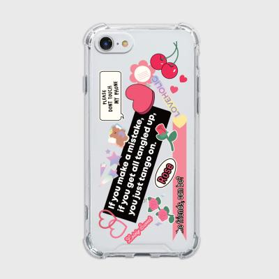 lovely rose sticker [탱크투명 폰케이스]