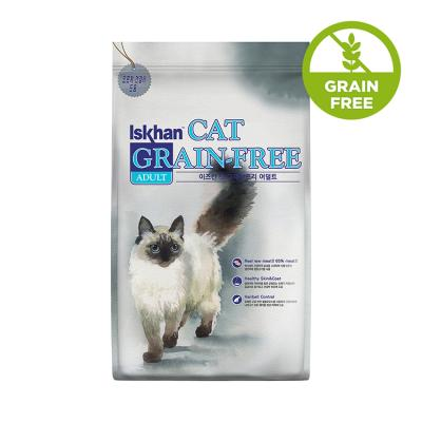 이즈칸 캣 그레인프리 어덜트 2.5kg 고양이 사료