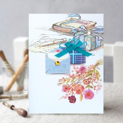 선물 꽃 카드 FT1039-6
