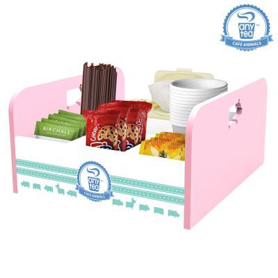 우드애니티 점보 커피정리함 핑크