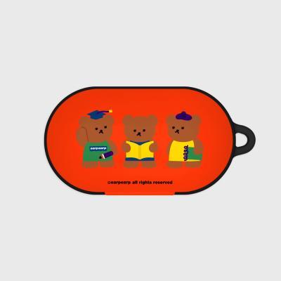 Smart bear friends-red(Buds hard case)
