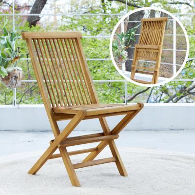 [리비니아]야외용 세로 접이식 원목의자