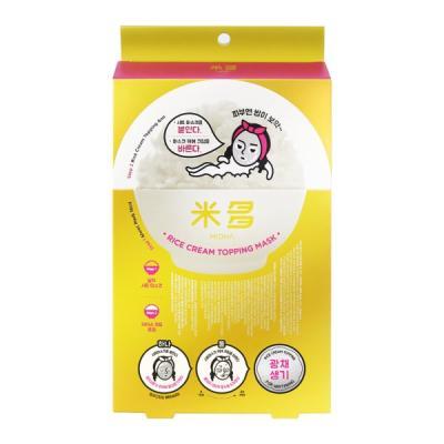 미다 [광채생기] 쌀 크림 토핑 마스크 5매