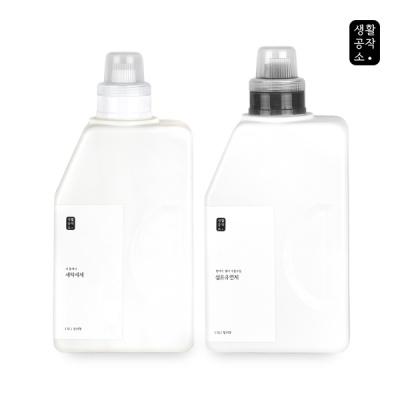 [생활공작소] 세탁세제 1.5L + 섬유유연제 1.5L
