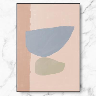 인테리어 명화 캔버스 액자 포스터 블루 컴포지션