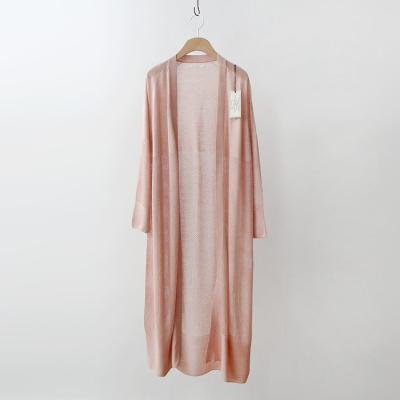 Maille Silk Wool Tencel Long Cardigan