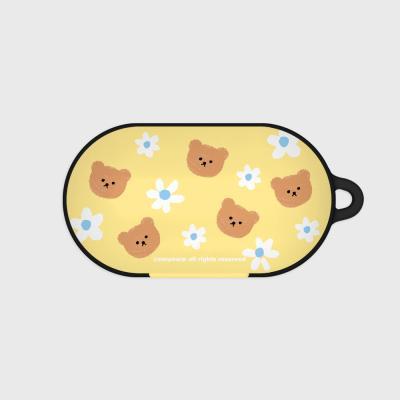 Dot flower bear-yellow(Buds hard case)