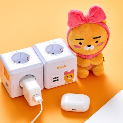 카카오 멀티탭 프렌즈 파워큐브 USB 고용량 라이언