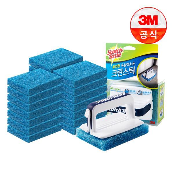 [3M]크린스틱 뉴올인원 욕실청소용 핸들+리필22입