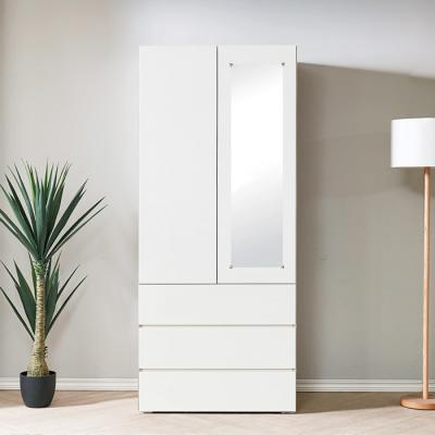 [노하우] 버키 LPM 800 거울 3단서랍 도어옷장 (장롱)