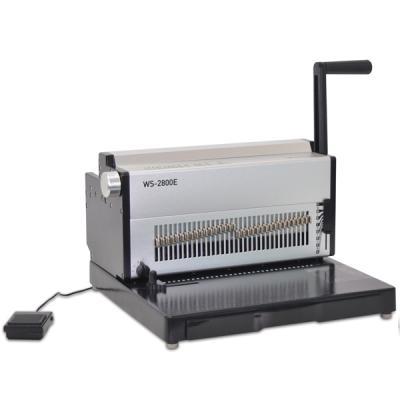 전동 와이어링 제본기 WS-2800E 학원/사무용