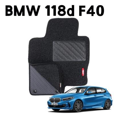 BMW 118d F40 이중 코일 차량 차 발 깔판 매트 black