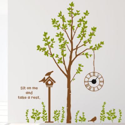 ib174-휴식을주는행복한나무와새_그래픽시계(중형)