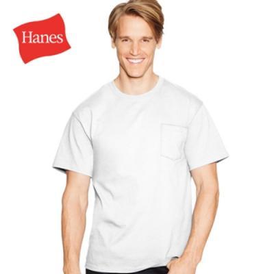 Hanes 헤인즈 남녀공용 포켓 무지 반팔 티셔츠 3color