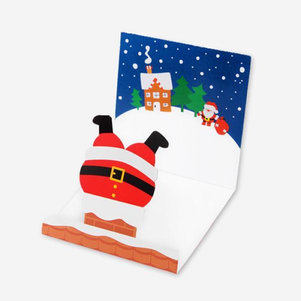 굴뚝 산타클로스 카드