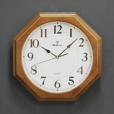 (kyos040)WD350 월넛팔각이중 벽시계 저소음 지름35cm