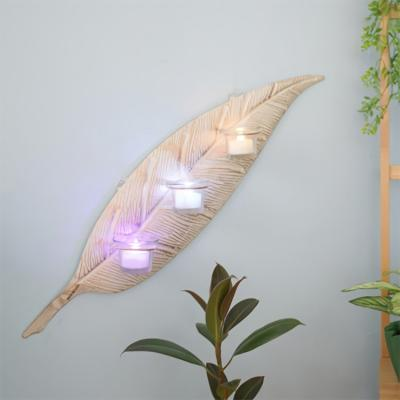 사인보드 루리앤메리 빈티지 나뭇잎 촛대 벽장식 슬림