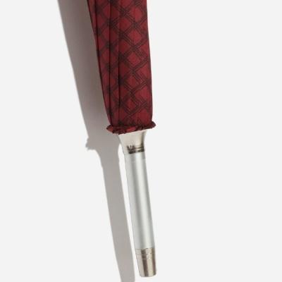 파라체이스 체크패턴 투명 라운드 그립 장우산 1105