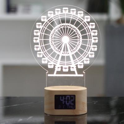 플라이토 아크릴 무드등 관람차 LED 탁상시계