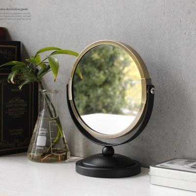 [2HOT] 스탠드 골드 거울 (5811)
