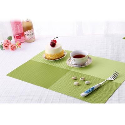모노테이블 양면 식탁매트 사각 플레이팅(그린)