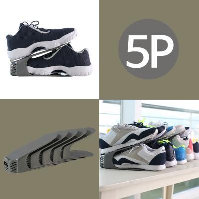 간편 신발정리대(중형)_5P(그레이)