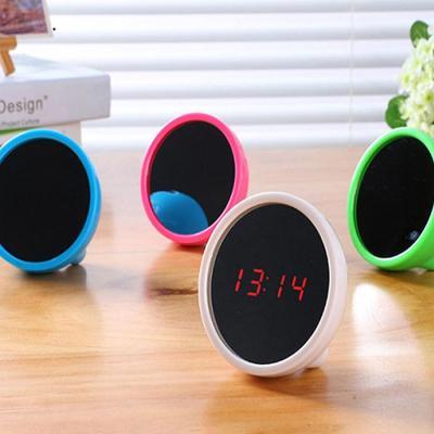 뷰티미러 LED시계 미니디지털 거울시계 알람시계