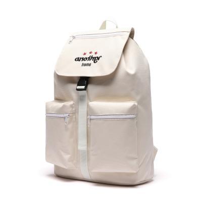 [어나더프레임] THREE STAR HOOD BACKPACK (IVORY) 백팩 후드백팩 포켓 가방