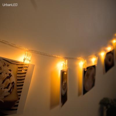 어반 LED 사진집게 무드등 엘로우