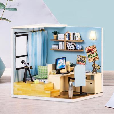 [adico]DIY 미니어처 코지 하우스 - 블루 스터디룸