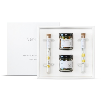 수제 꽃차 선물 미니꽃차2종&국화티스틱세트+쇼핑백
