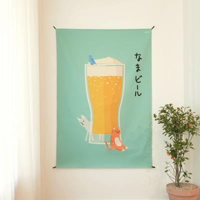 재팬스타일 패브릭 포스터 / 가리개 커튼