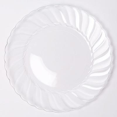 칼라 파티접시 라운드 23cm-투명(6입)