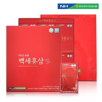 김포파주인삼농협 6년근 백세홍삼진 (70ml x 30포)